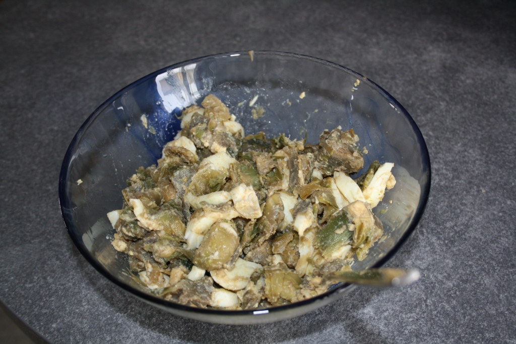 insalata di carciofi e uova sode