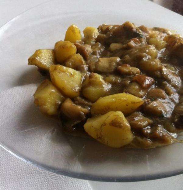 funghi porcini in tegame con patate