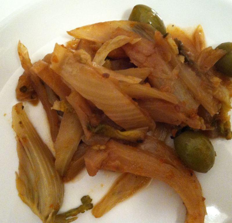 finocchi con pomodori secchi olive e maggiorana