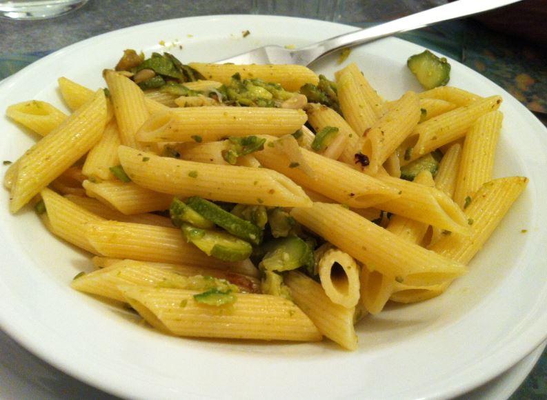 pasta zucchine e zenzero