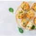 nidi di patate con mozzarella spinaci e pinoli