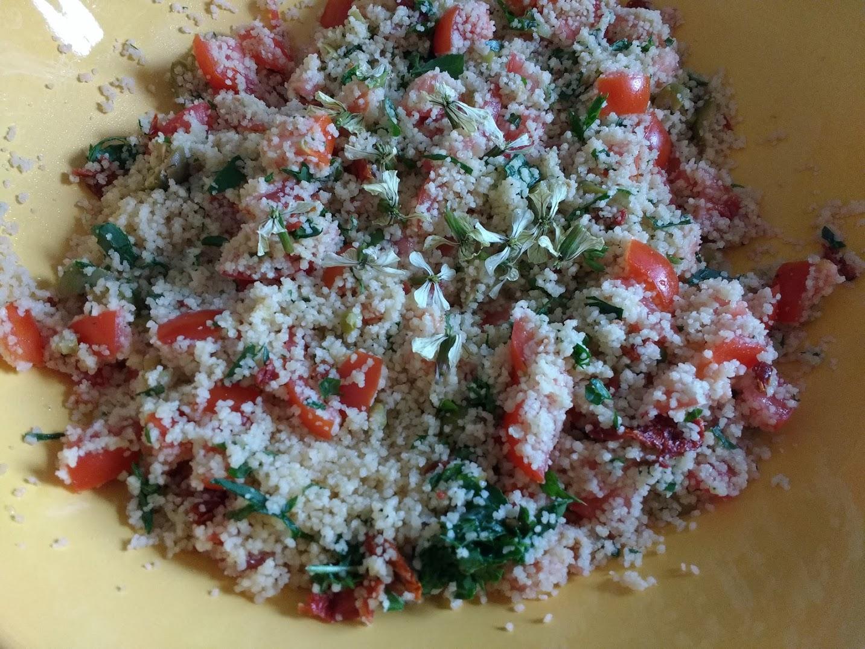 couscous con pomodori e rucola