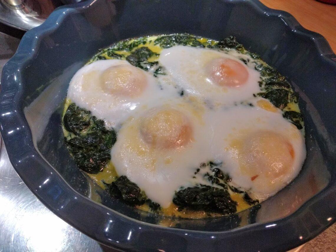 spinaci e uova gratinati al forno