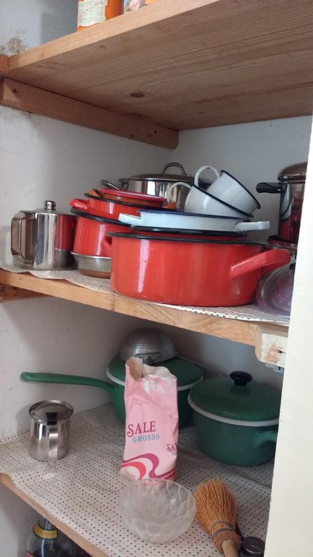 Crednza nella cucina di casa Giorgio Morandi a Grizzane Morandi