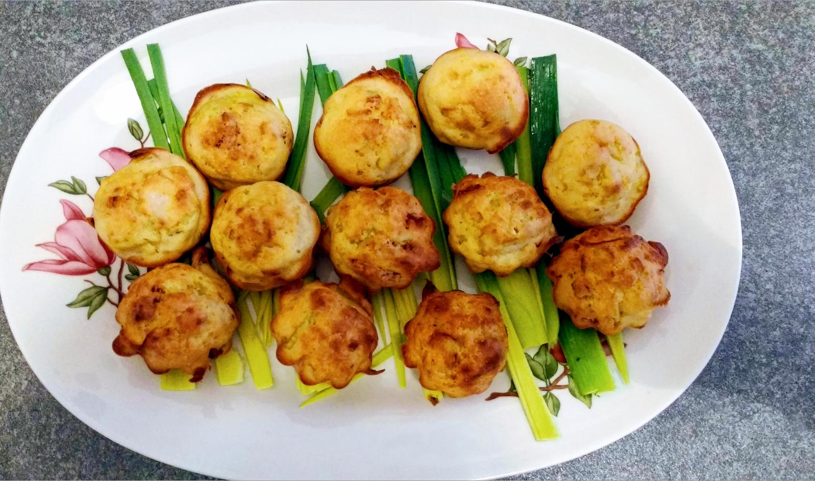 muffin salati con porri e pomodori secchi