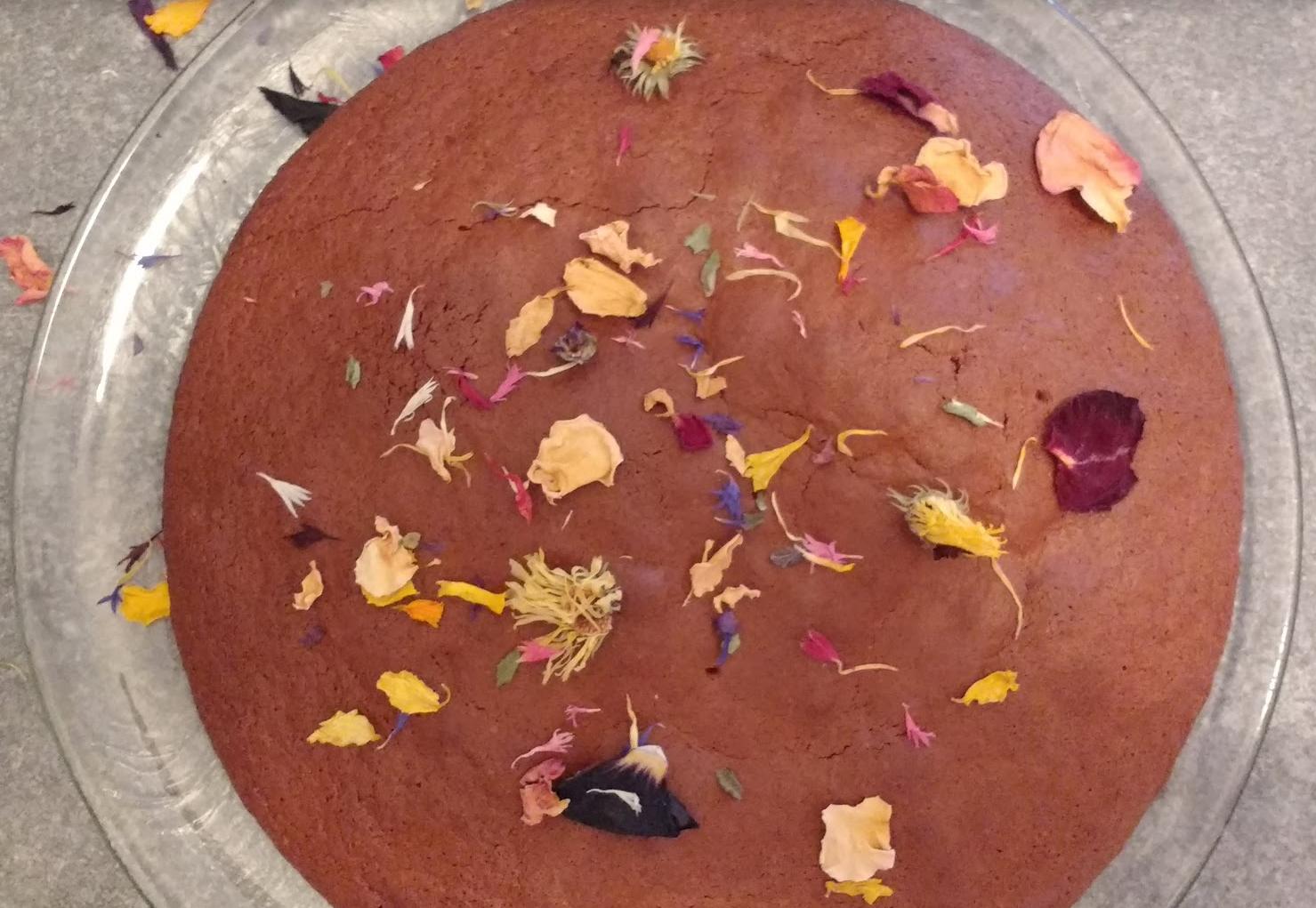 torta al cioccolato con profumo di arancia