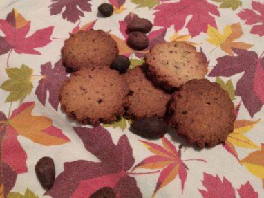 Biscotti con fave di cacao