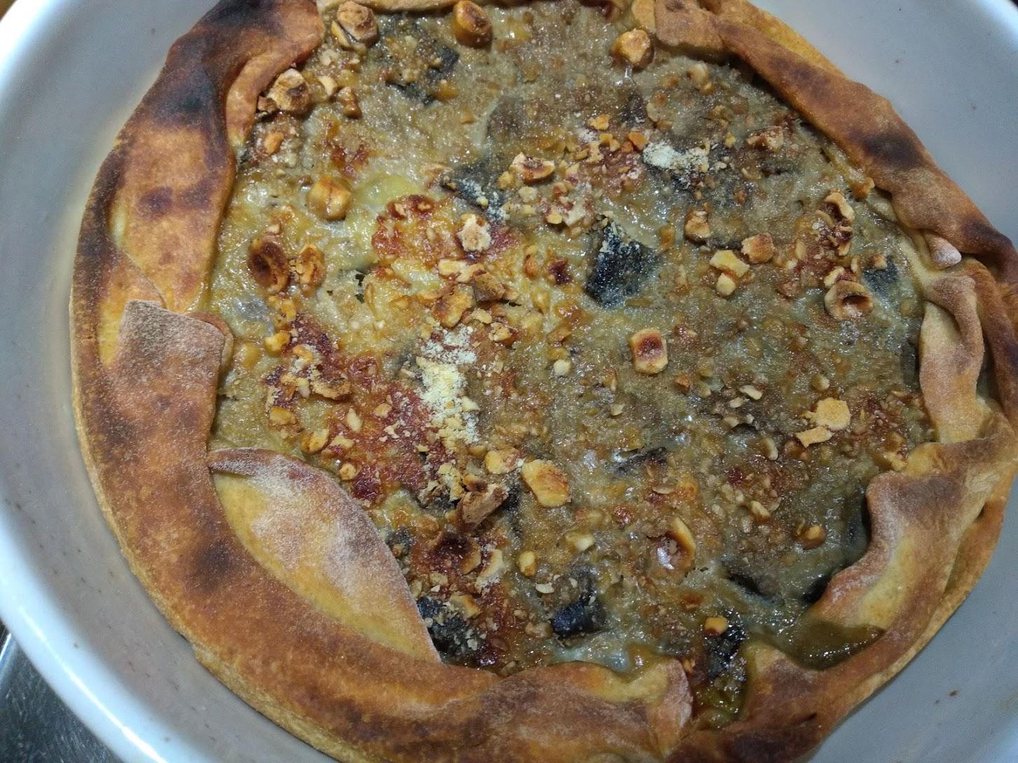 tortino di melanzane al forno con crumble di nocciole