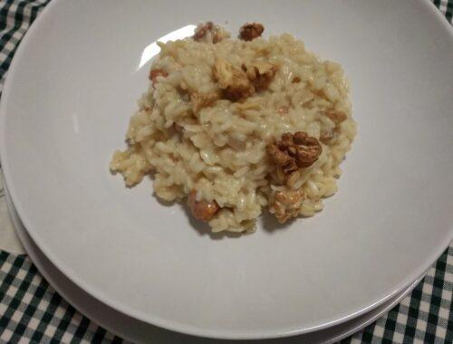 risotto al gorgonzola con le noci