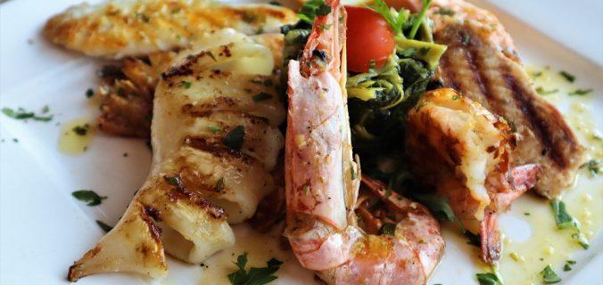 calamari grigliati con pesto